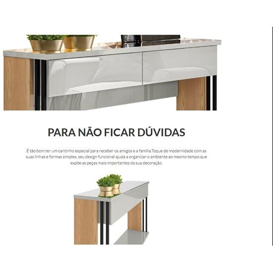 Aparador Bonito Linea Brasil Carvalho/Off White