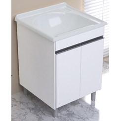 Armário Com Tamque Amélia  61,5X61cm Branco/Pedra Gelo