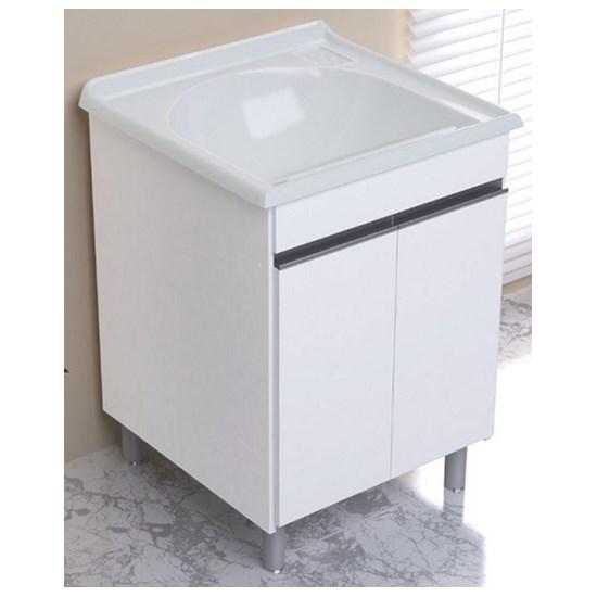 Armário Kit Com Tanque Amélia  61,5X61cm Branco/Pedra Gelo
