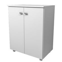 Armário Multiuso 2 Portas Branco Premium
