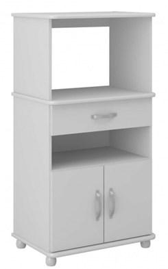 Armário Multiuso Para Forno Microondas Branco Premium