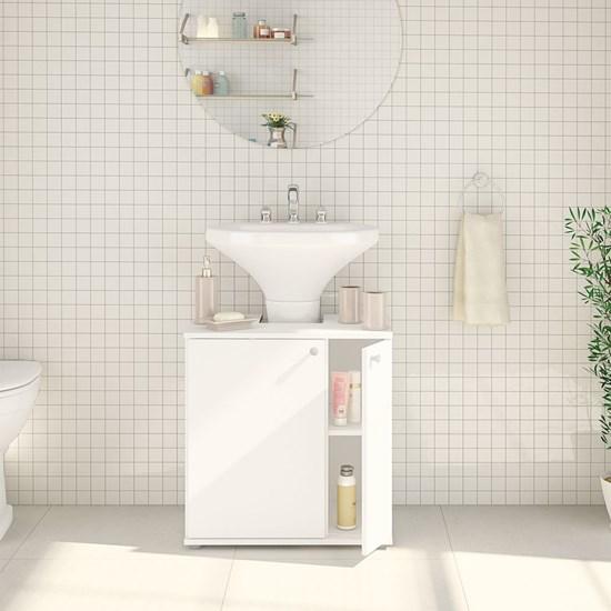 Balcão Banheiro 2 Portas Politorno Branco