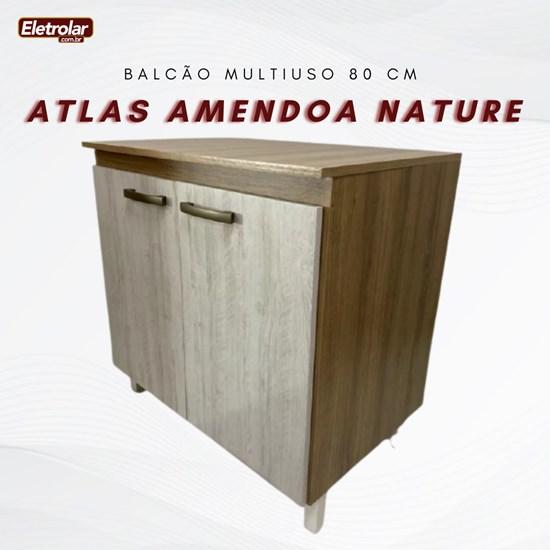 Balcão Multiuso 80 Cm Atlas Amendoa Nature