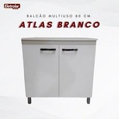 Balcão Multiuso 80 Cm Atlas Branco