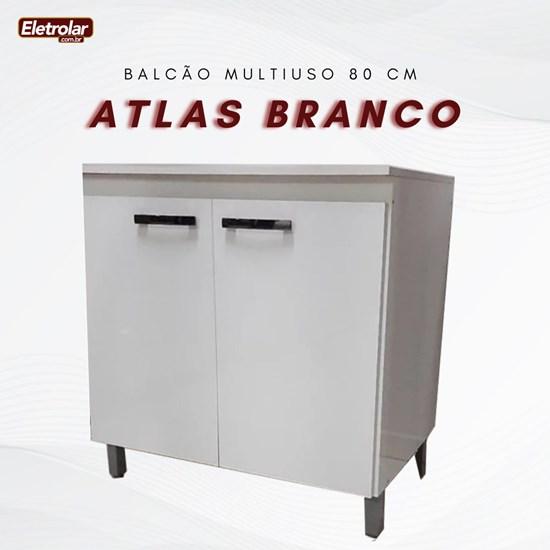 Balcão Multiuso 80 Cm Atlas Móveis Sul Branco