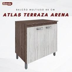 Balcão Multiuso 80 Cm Atlas Móveis Sul Terraza Arena