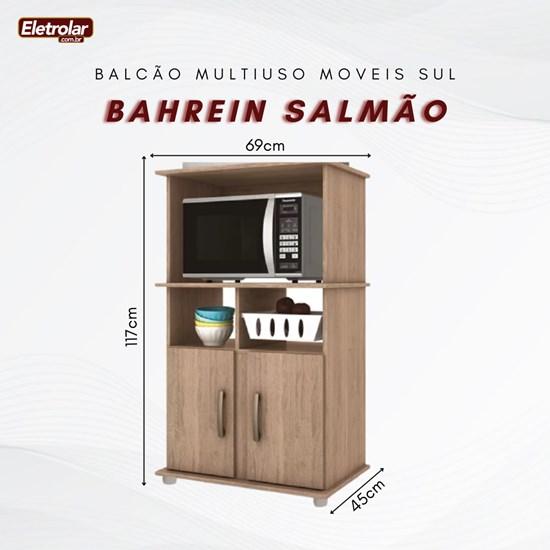 Balcão Multiuso Bahrein Moveis Sul Salmão