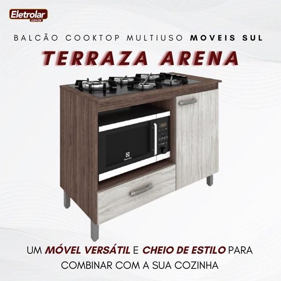 Balcão Multiuso Cooktop Roma Moveis Sul Terraza Arena