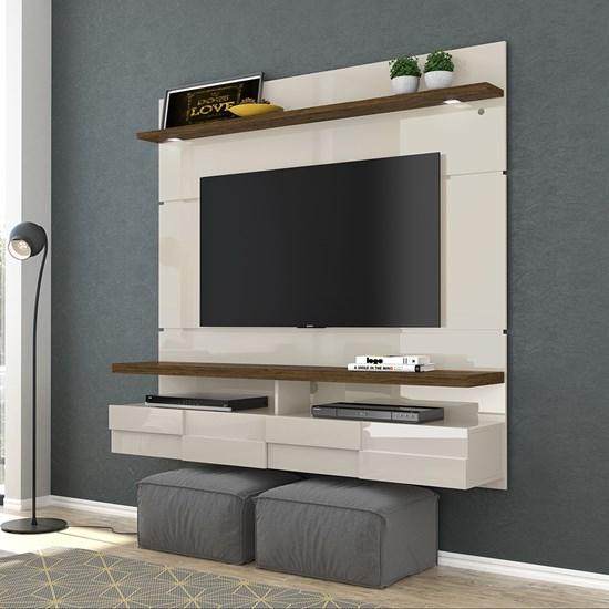 Bancada Suspensa Lana 1,60M Madetec Tv60 Off White / Savana