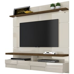 Bancada Suspensa Lana 1,60M Madetec Tv60 Off White / Savana
