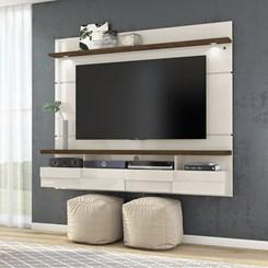 Bancada Suspensa Lana 1,80M Madetec Tv60 Off White / Savana