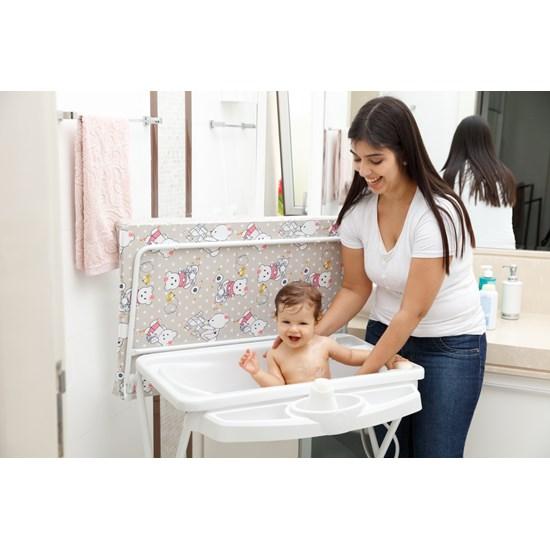 Banheira Bebê Plástica Luxo Galzerano Ursinha