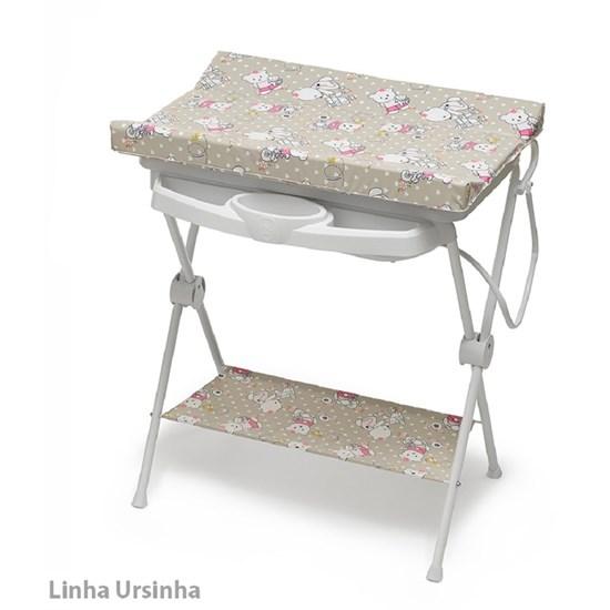 Banheira Para Bebê Plástica Luxo Ursinha