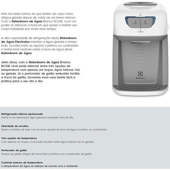 Bebedouro De Água Branco Com Compressor Branco