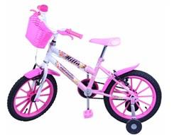 Bicicleta Aro 16 Acess Cross Fem.Mila Rosa