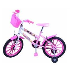 Bicicleta Aro 16 Cross Feminina Mila Rosa