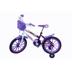 Bicicleta Aro 16 Cross Feminina Mila Roxa