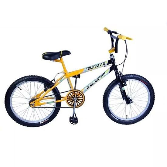 Bicicleta Aro 20 Cross Mutante Tenk Amarelo