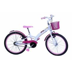 Bicicleta Aro 20 Feminina Fashion Branco