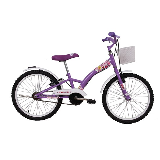 Bicicleta Aro 20 Feminina Fashion Lilas