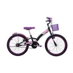Bicicleta Aro 20 Feminina Fashion Preto