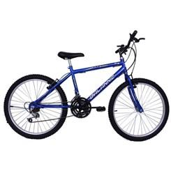 Bicicleta Aro 24 18M Masculina Sport Azul