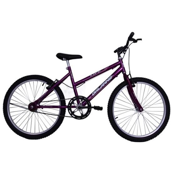 Bicicleta Aro 24 S/Marcha Fem Life Roxa