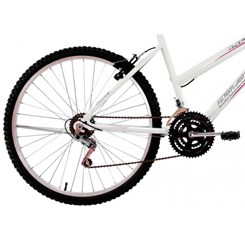 Bicicleta Aro 26 18M Fem V Brake Life Branco