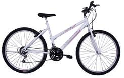 Bicicleta Aro 26 18M Fem V/Brake Life Branco