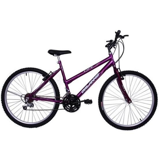 Bicicleta Aro 26 18M Fem V/Brake Life Roxa