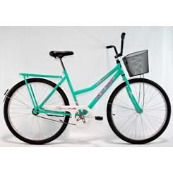 Bicicleta Aro 26 Barra Forte Fem New Azul Turqueza