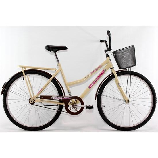 Bicicleta Aro 26 Barra Forte Fem New Bege