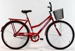 Bicicleta Aro 26 Barra Forte Fem New Vermelho