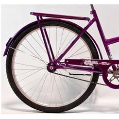 Bicicleta Aro 26 Barra Forte Fem New Violeta