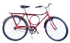 Bicicleta Aro 26 Barra Forte Masc. Poten Vermelho