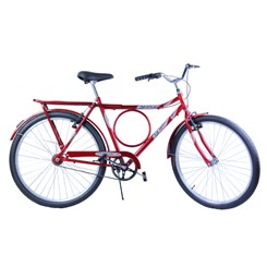 Bicicleta Aro 26 Barra Forte Masc.Poten Vermelho