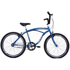 Bicicleta Aro 26 Beach Masculina 18V Azul