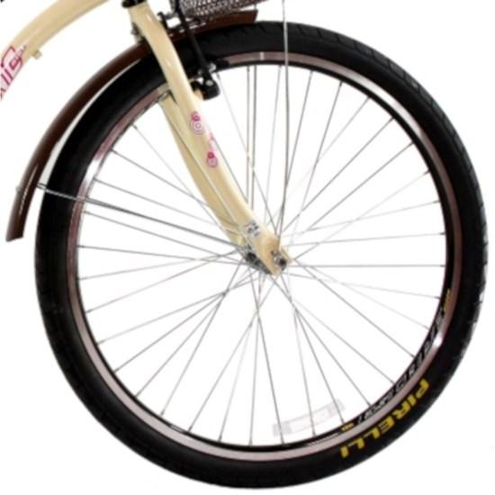 Bicicleta Aro 26 Beach Retrô Feminin 18M Bege