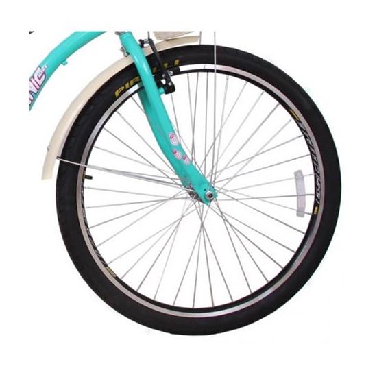 Bicicleta Aro 26 Beach Retrô Feminina Azul Turqueza
