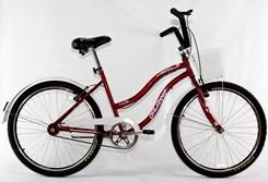 Bicicleta Aro 26 Beach Retrô Feminina Vermelho
