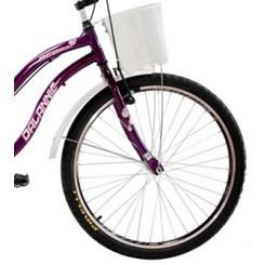 Bicicleta Aro 26 Beach Retrô Feminina Violeta