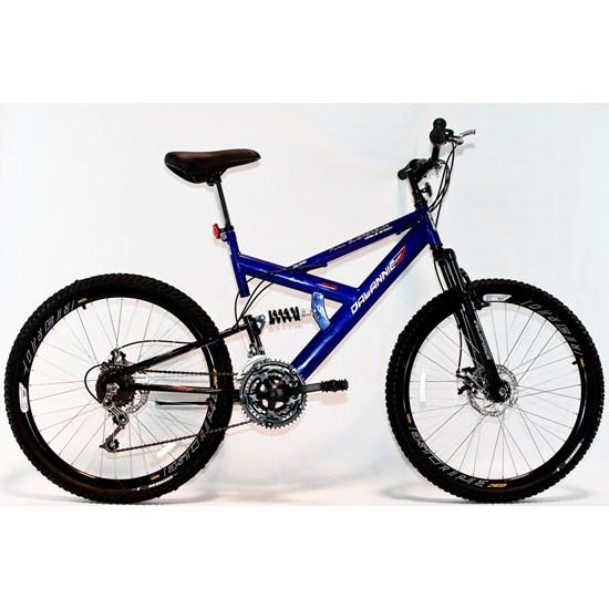 Bicicleta Aro 26 Disco Suspensão 18V Azul