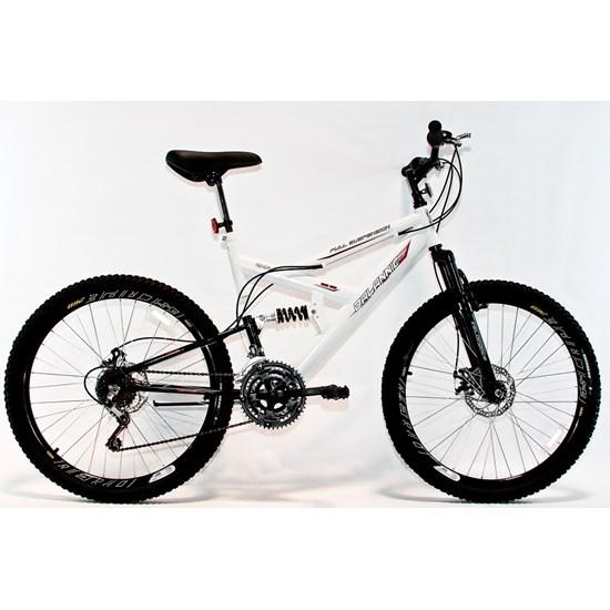 Bicicleta Aro 26 Disco Suspensão 18V Branco
