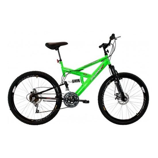 Bicicleta Aro 26 Disco Suspensão 18V Verde