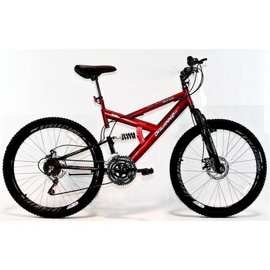 Bicicleta Aro 26 Disco Suspensão 18V Vermelho