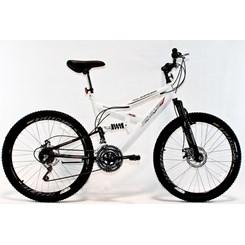 Bicicleta Aro 26 Full Susp Max 18Marchas Branco