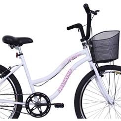 Bicicleta Aro 26 Long Beach Fem Branco