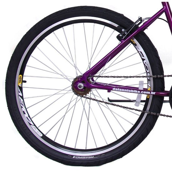 Bicicleta Aro 26 Long Beach Fem Roxa