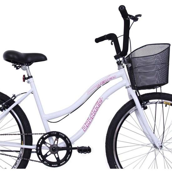 Bicicleta Aro 26 Long Beach Feminina Branco