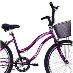 Bicicleta Aro 26 Long Beach Feminina Roxa